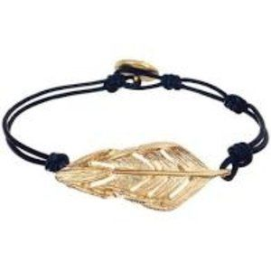 Sculpted Feather Leather Wrap Bracelet